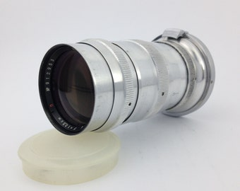 Vintage USSR lens Jupiter-11 4/135 Zeiss Copy Suitable for Contax and Kiev Rangefinder Cameras