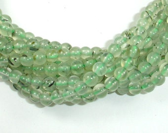 Prehnite Beads, 4mm Round Beads, 16 Inch, Full strand, Approx 100 beads, Hole 0.8mm, A quality (265054006)