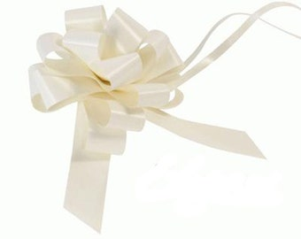 5 Bow Wedding Car Kit in Ivory - 5 Bows and Ribbon