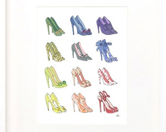 pretty pumps, digital download of shoes, shoes illustration, digital illustration of pumps, stilettos drawing, drawing of shoes, heels, JPEG