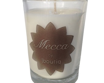 MECCA organic candle made with pure essential oils