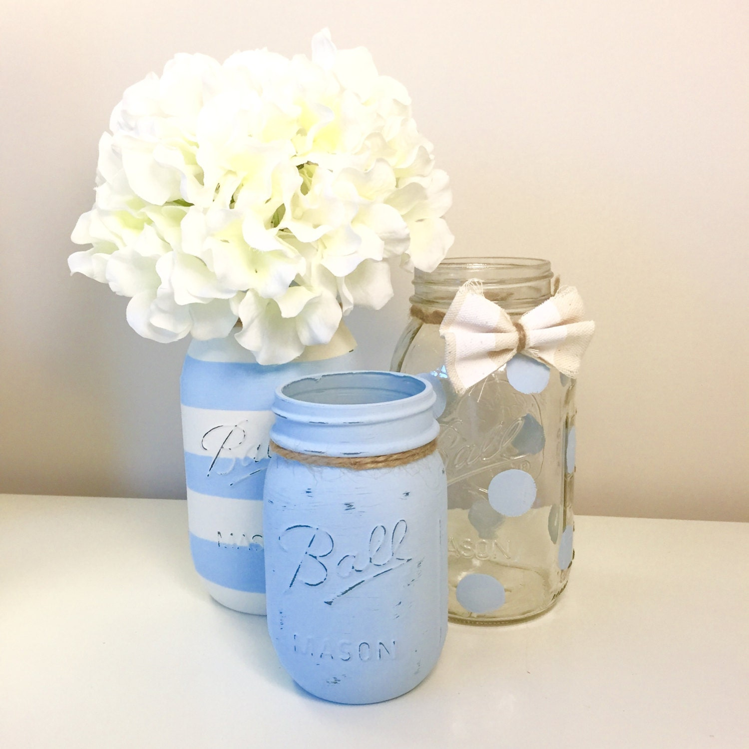 Baby Shower Decor With Mason Jars ~ Unavailable listing on etsy