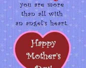 Printable Mother's day pdf card
