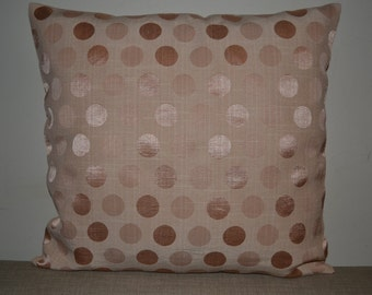 Satin Polka Dots Decorative Pillow Cover 16x16""