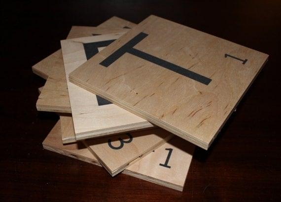 how to make oversized scrabble tiles