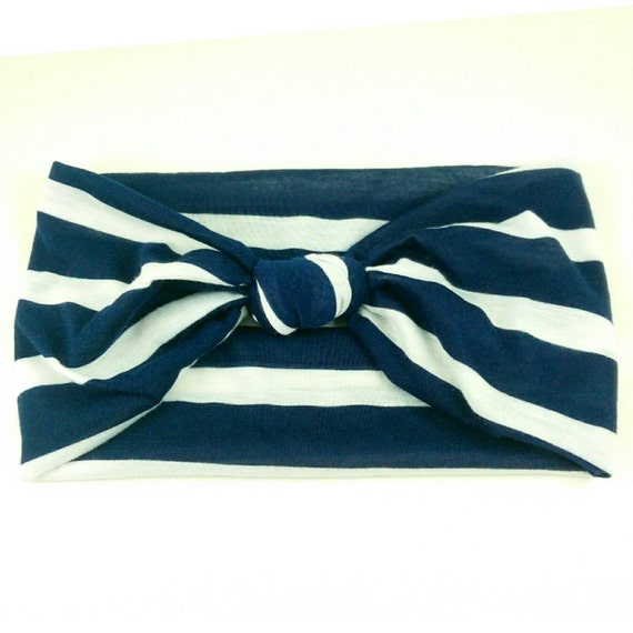 Broad Stripes Headband- All Sizes Available, Extra Wide Band Available
