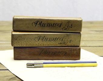 Distressed Mini Plumier or Pencil Box from France
