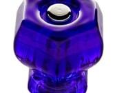 """Cobalt Blue Glass Hexagonal Knobs - K-35C,  1-1/4"""" Diameter"""