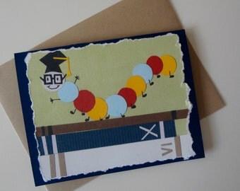 Bookworm Graduation Greeting Card