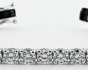 Diamond Bracelet - 8 carat, GH color