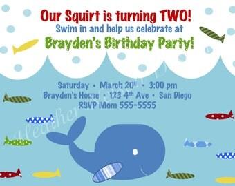 Sea Critter Birthday Invitation