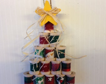 Wooden Spool Christmas Tree