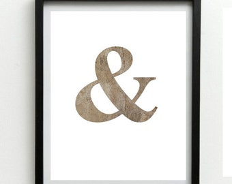 Ampersand Print, Printable Wall Art,  Typography Art, Typography Print, Office Decor, Typography Poster, Modern Wall Art,  Digital download