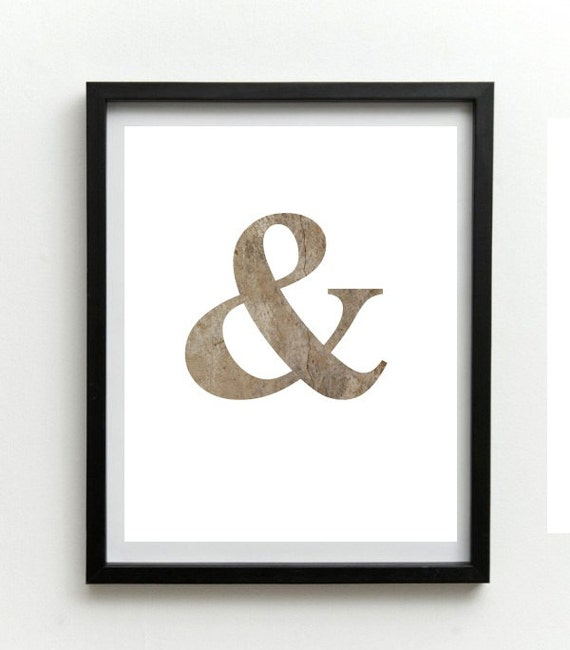 Black Ampersand Wall Decor : Ampersand print printable wall art typography by