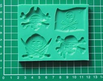 Silicone Mould Pirates - Sugarcraft Cake Decorating / Fimo mold