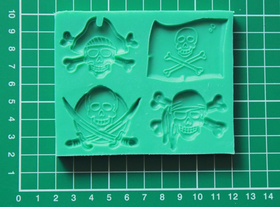 Silicone mould pirates sugarcraft cake decorating by cakescraft