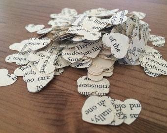 vintage heart wedding confetti