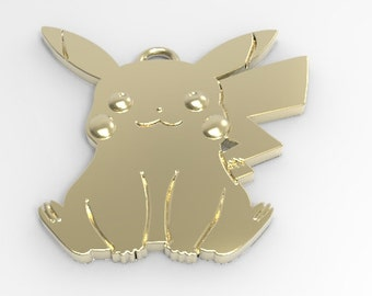 Pokemon Pikachu 14k Gold Pendant