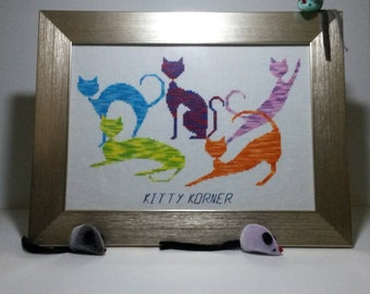 Kitty Korner - Cross Stitch Pattern Pdf