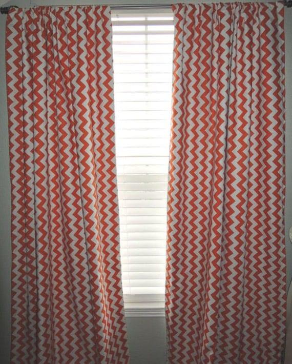 Orange Chevron Curtains