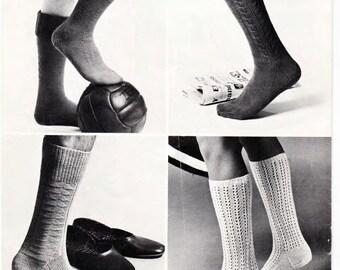 Family Socks Knitting pattern PDF, lovely old pattern