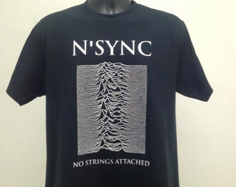 Nsync No Strings Attached/Joy Division Unknown Pleasures Mash Up T Shirt