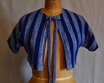 Vintage wool striped bolero