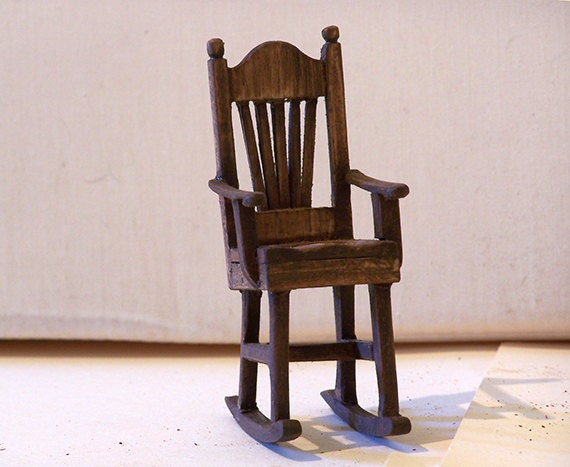 Miniature Red Rocking Chair ~ Miniature rocking chair by redwoodminiatures on etsy