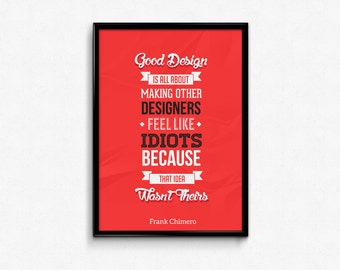 Graphic Design Custom Red Typography Poster