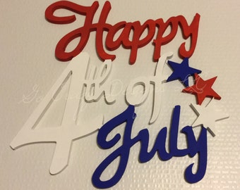 Painted Wooden 4th of July decor