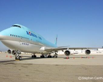 LAX 12, Airport, Airplane, Korean Air, Los Angeles, Photography, Home Decor