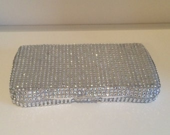 Silver Sparkle Baby Wipes Case