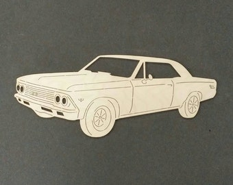 1966 CHEVELLE SS Car Wall Art(Birch Wood)