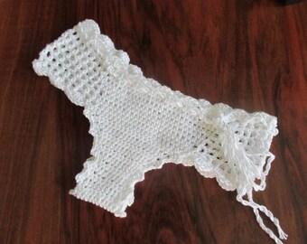 PATTERN bikini brasilian bottom size S, M, L , crochet swimwear bottom pattern, instant download pattern