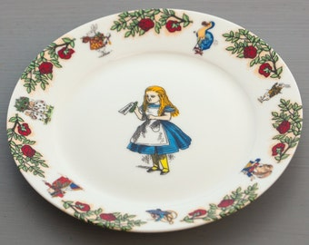 Alice In Wonderland Tea Plate