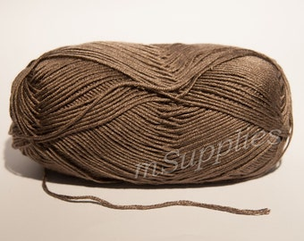 Dirt Brown Acrylic 100% Yarn 100g