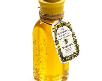 Raw Wildflower Honey in Gift Bottle - 1 lb