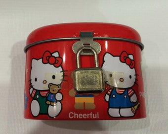 Sanrio vintage Hello Kitty money box safe 1993