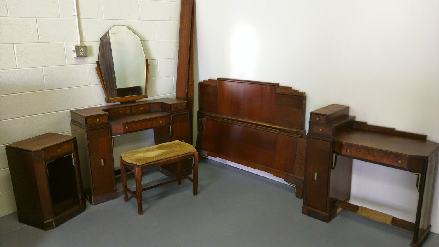Https Www Etsy Com Listing 233369730 Vintage 1920s Art Deco Bedroom Set