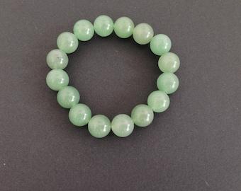 Aventurine green gemstone beaded bracelet