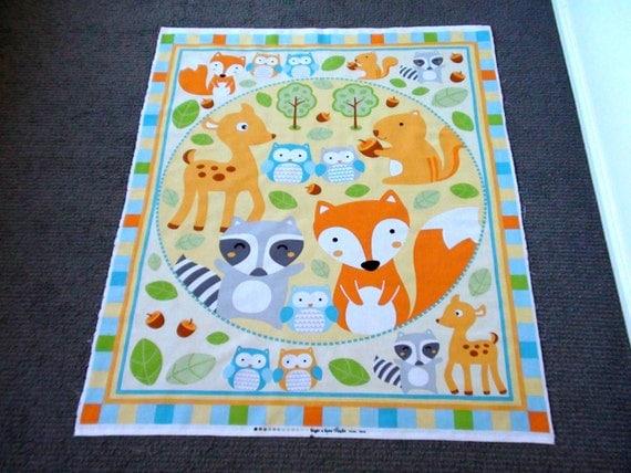 Woodland Animal Fabric Panel Baby Nursery Cot Panel Juvenile
