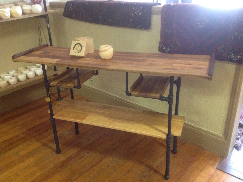 black pipe console table. Black Bedroom Furniture Sets. Home Design Ideas