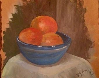 Original Oranges Oil Painting
