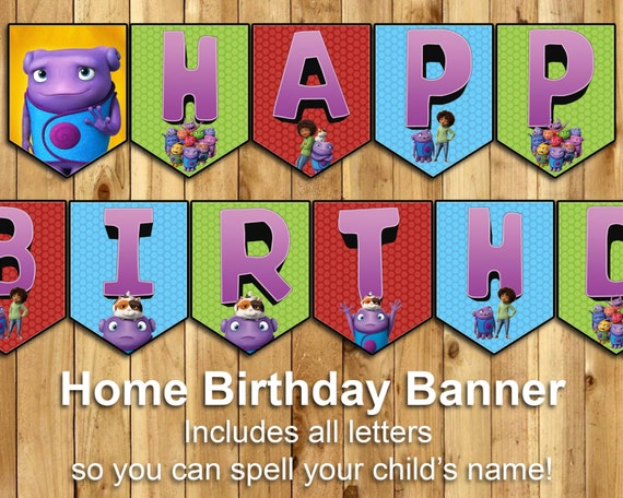 Home Birthday Banner Almost Home Happy Birthday Banner by ...