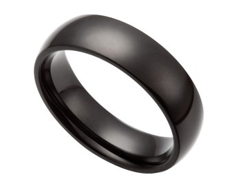 Stainless Steel Black Ring