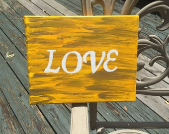 "Inspirational Word on Canvas- ""LOVE"""