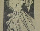 Vintage Bib Apron Full Size Pattern Heart Bodice & Back APR 7991