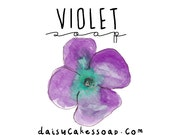 Violet,  A Smooth Floral Hand and Body Bar