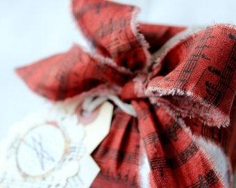 Fabric Ribbon, Cotton Ribbon, Gift Wrap Ribbon, Fabric Packaging, Cotton Ribbon, Frayed Ribbon, Christmas Ribbon