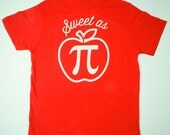Sweet As Pi Youth T-Shirt - Gender Neutral - Red